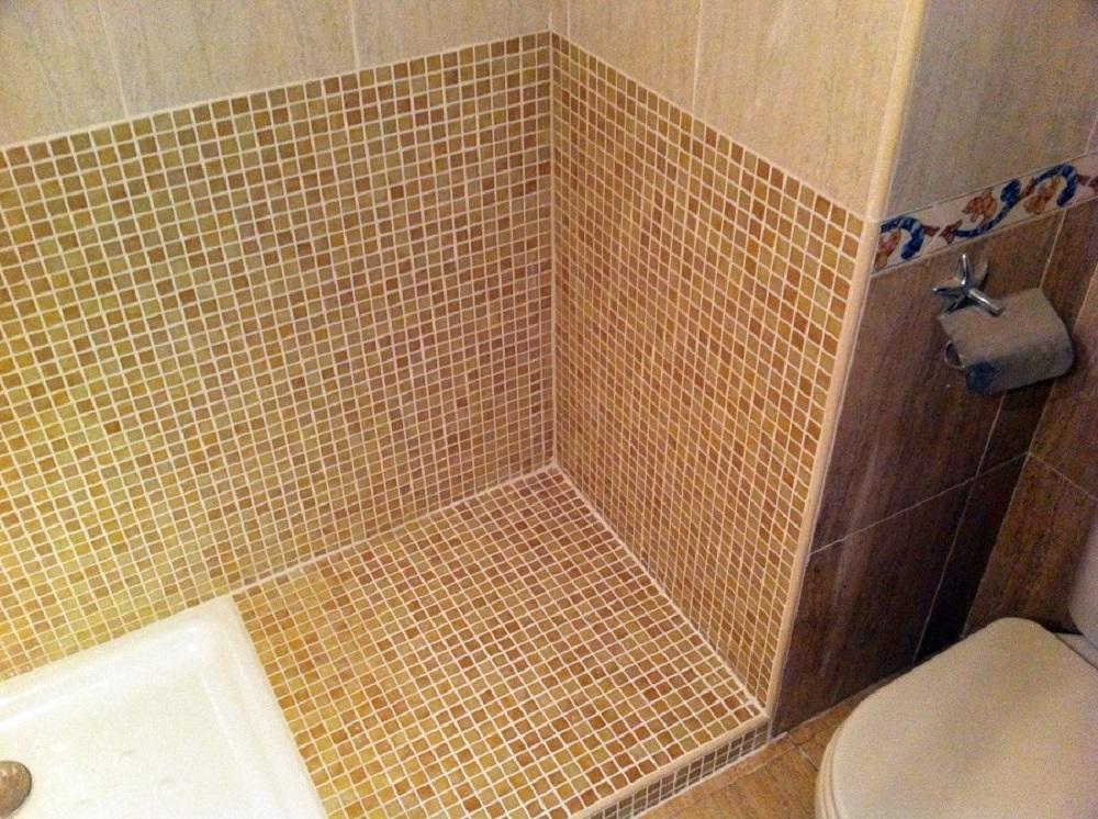 reforma baño cambio de bañera a plato de ducha